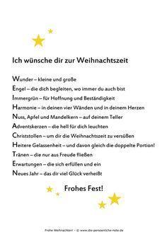 """Kostenloser PDF-Download im Adventskalender der """"24 kleinen Wortgeschenke"""": Weihnachtswunsch (zum Ausdrucken, Weitergeben, Verschenken, für die Weihnachtsgrüße, ...)"""