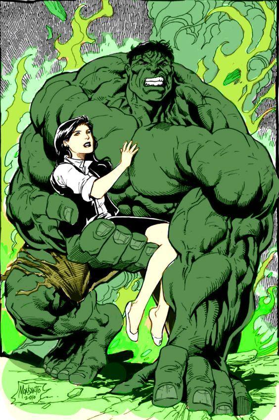#Hulk #Fan #Art. (HULK AND BETTY) By: Gilbert Monsanto. ÅWESOMENESS!!!™ ÅÅÅ+