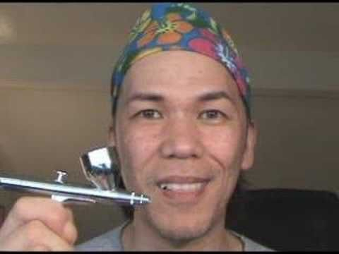 This guy shows how to mix up your own airbrush makeup saving hundreds of dollars!