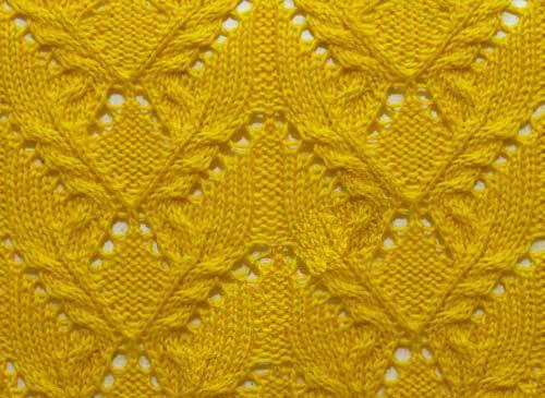 Lace Cable Knit Stitch Pattern