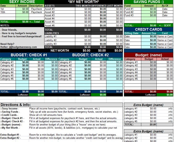 10 Free Excel Spreadsheet Templates To Help Explode Your Wealth - Free Budgeting Spreadsheet