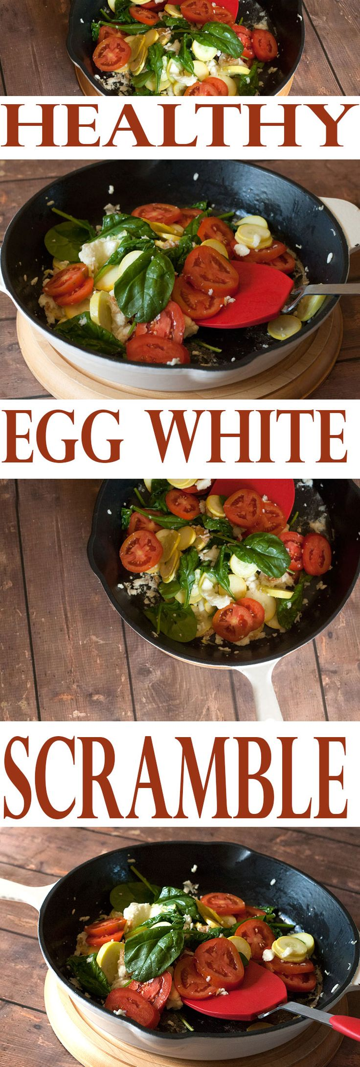 Healthy Egg White Scramble Recipe | AllSheCooks.com | At under 200 calories, this healthy recipe is perfect for any meal of the day and will fill you up. Great for a diet!