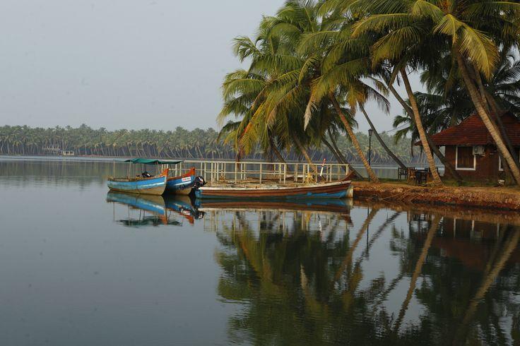 """Vil Iopleve et Kerala, hvor landbylivet blomstrer og kun få turister finder hen? Der, hvor smukke kvinder i sarier morter kokosnødder til hjemmelavet curry, mens bøflerne tygger drøv ved høstakkene. Istarter med at føle historiens vingesus i Calicut, den gamle """"City of Spices""""."""