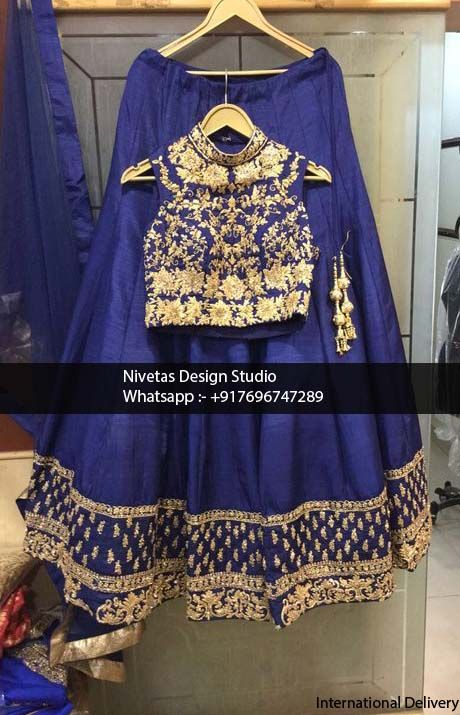 Lehenga - whatsapp +917696747289 International Delivery visit us at https://www.facebook.com/punjabisboutique We do custom suits to match your requirements. We can work together to create stunning Indian outfits especially to match wedding colors, dazzle for a party or any other special occassions. I will create a custom order for you based on your requirements. Punjabi salwar suits, lehengas, replica outfits, sarees blouses , bridal wear suits, patiala salwar suits, anarkalis suits etc