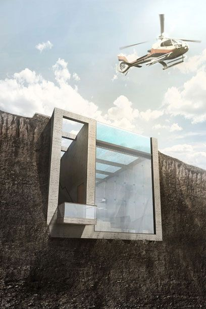 "Das ""Casa Brutale"" wird direkt in den Fels gehauen - TRAVELBOOK.de"