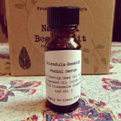 DIY Calendula-Rosehip Facial Serum...works great when used on scars, wrinkles, prematurely aged skin and dehydrated skin. Must make!