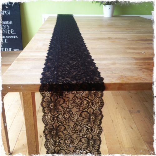 1 Black Lace - Wedding Decoration/ Table Runner