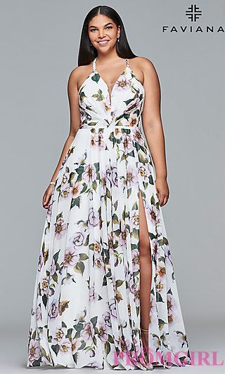 Full Figure Dresses and Plus-Size Prom Gowns -PromGirl - PromGirl #PlusSizeDressesEvening