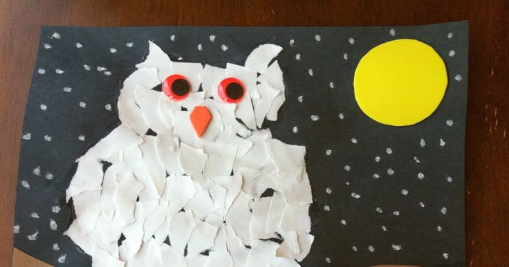 Here is a Ripped Paper Owl craft  that Butterfly and I worked on together.  I love how the ripped white paper...