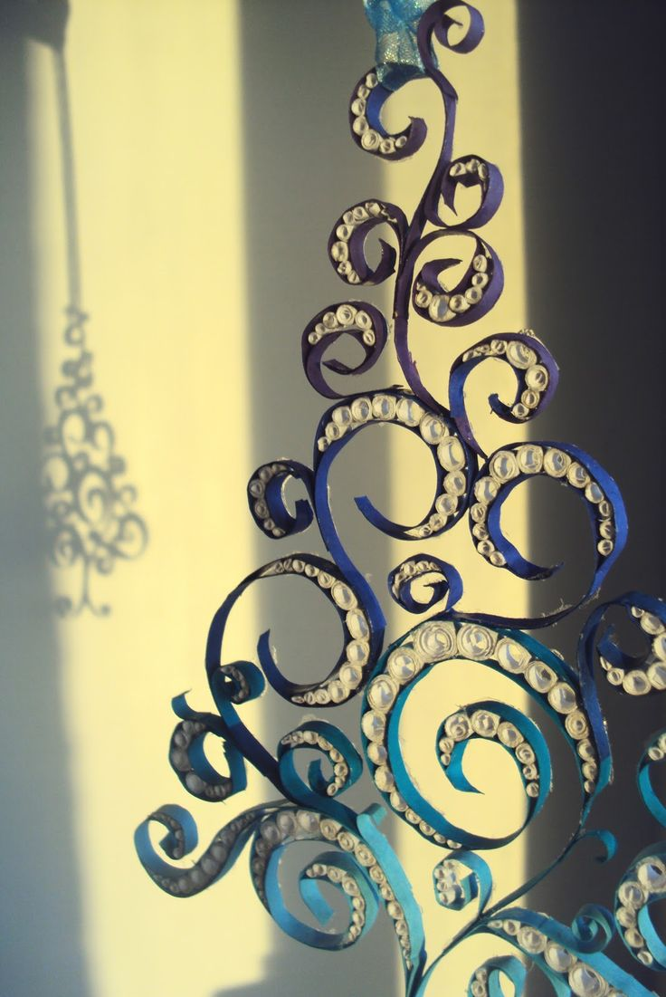 Quilling Seasons ----could use graduated pearls/beads + ribbons with a support backing or background