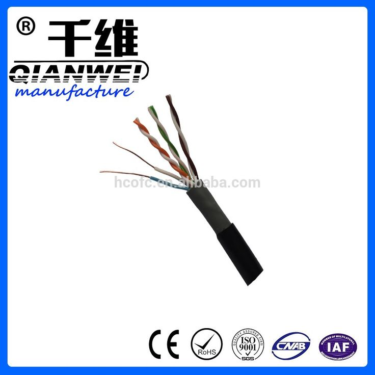 Hebei Hongchuang Optical Fiber Cable wide area network cat5e network cable with black jacket