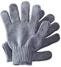 Hydrea London Carbonized Bamboo Exfoliating Gloves:releases Anions which help discharge the body of positive ions from use of everyday electronics. With daily use, gloves release far infrared waves which help energize the body & metabolism, & regulate body temperature.A perfect exfoliating texture which washes away dead surface cells while boosting circulation and encouraging skin cell rejuvenation.Naturally antibacterial & breathable carbonized bamboo is odor & mildew resistant…