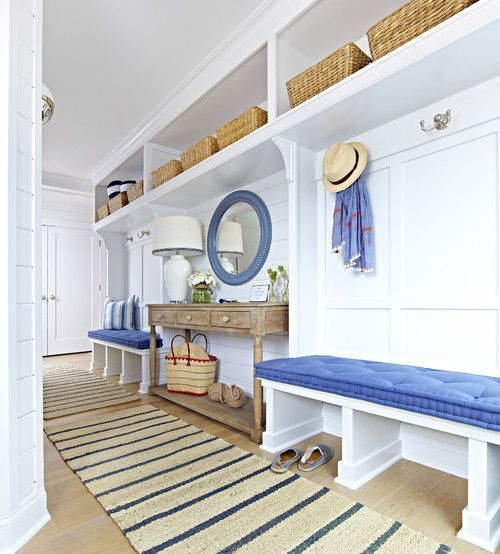 Collection of 50 incredible mudroom ideas for 2017, all with storage lockers and/or benches. Includes small, medium and large mudrooms.