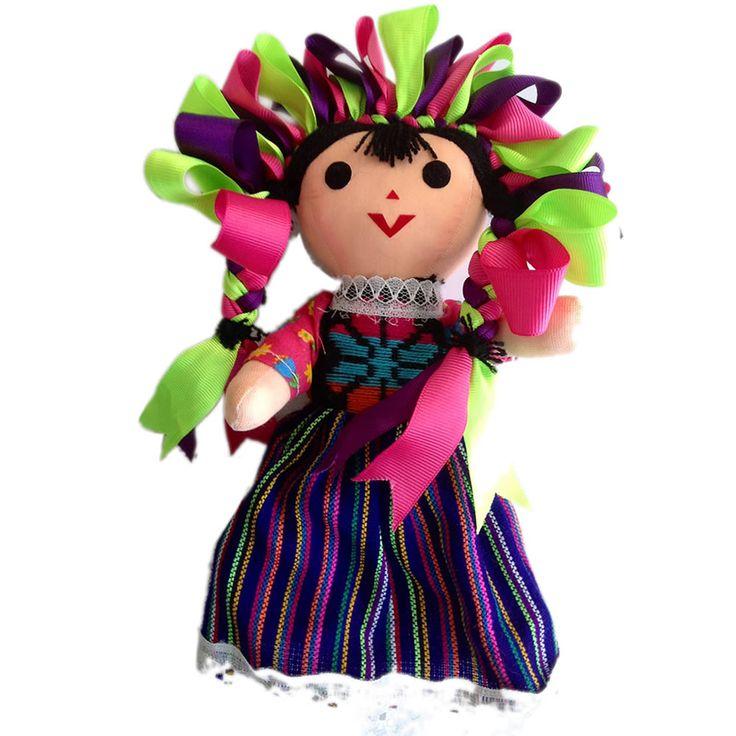 Muñeca mexicana de tela (Mediana) - Haz un click en la imagen para cerrar