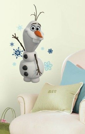 RoomMates Frozen Olaf Children's Repositionable Wall Stickers, Multi-Colour
