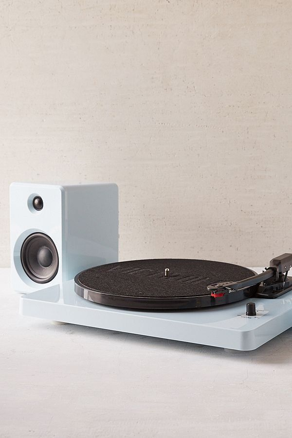 Ep 33 Bluetooth Turntable With Speakers Glossy Blue Bluetooth Speaker Record Player Speakers