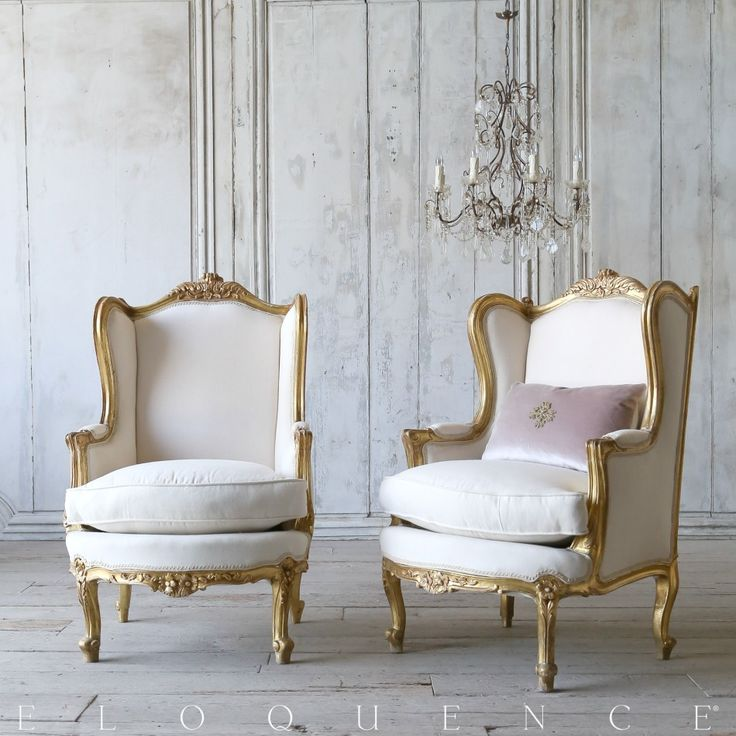 Eloquence One Of A Kind 1940u0027s Gilt Bergere Chairs Roses Pair