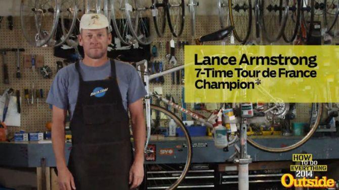 Hoe vervang ik een lekke band: met Lance Armstrong