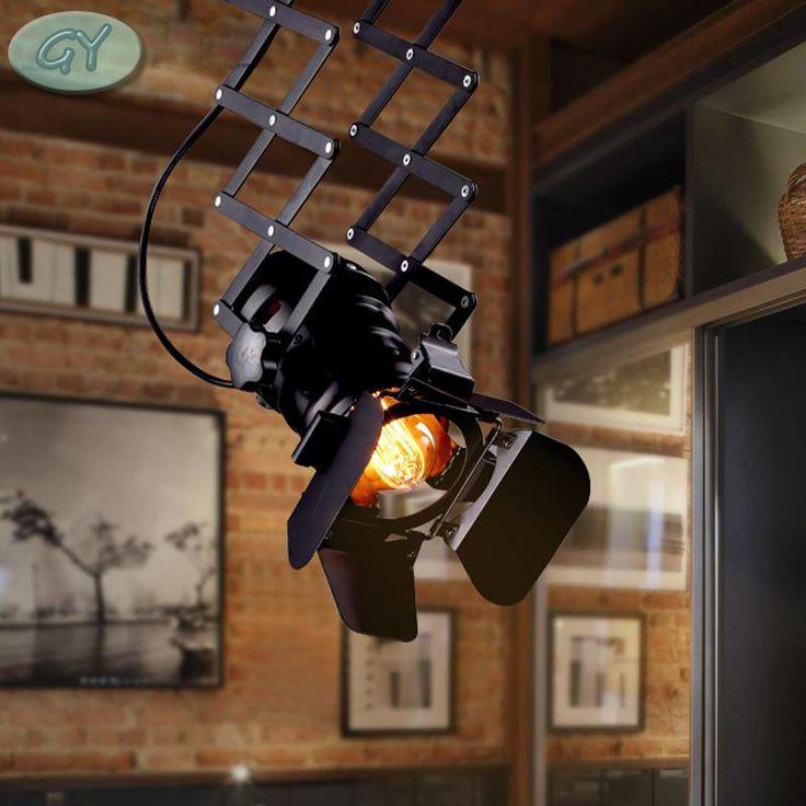 Encontre mais Iluminação da trilha Informações sobre Loft RH Lâmpada Do Teto Bar…