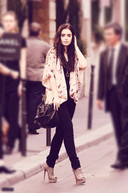 Lily Collins is effortlessly cool
