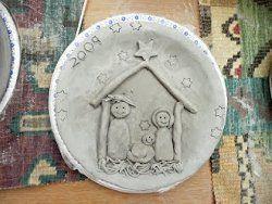 Christmas Clay Nativity Plate