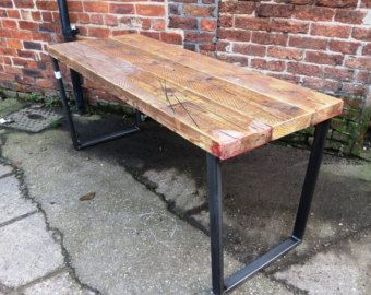 Reclaimed Industrial Chic Custom Made Scaffold Pipe Desk by RCCLTD