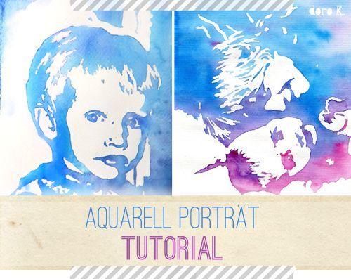 DIY Aquarell Porträt: so einfach kannst auch Du ein wunderschönes Porträt deiner Kinder selber malen!