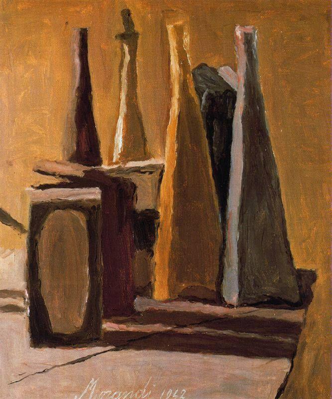giorgio morandi, this painting was drawn around 1920. this artist has used…