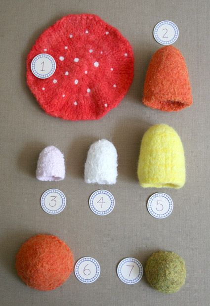 Felted Mushrooms from KathrynIvy - Felted Mushrooms - the purl bee