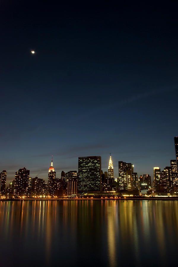 ✮ Moon Over Manhattan: Ny States, Nyc States, Photographs, Manhattan Ni, Midtown Manhattan, New York, York States, Newyork, Moon Shots