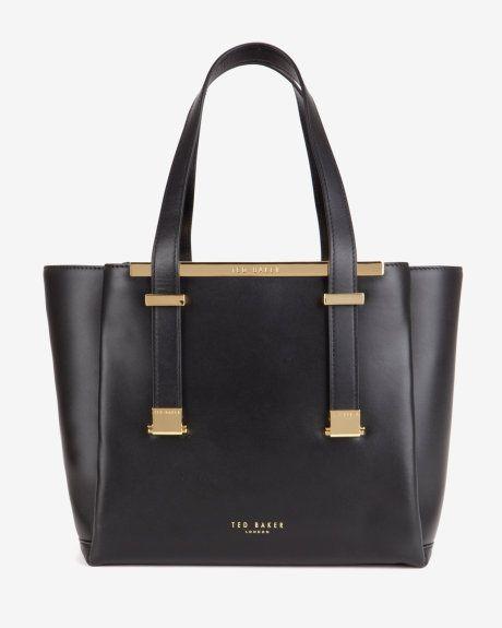 Leather shopper bag - Black | Bags | Ted Baker UK Clothing, Shoes & Jewelry : Women : Handbags & Wallets : Women's Handbags & Wallets hhttp://amzn.to/2lIKw3n