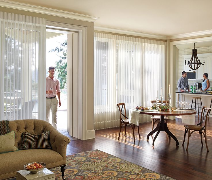 1000 images about chic lofts open living spaces on for Simple window treatments for large windows