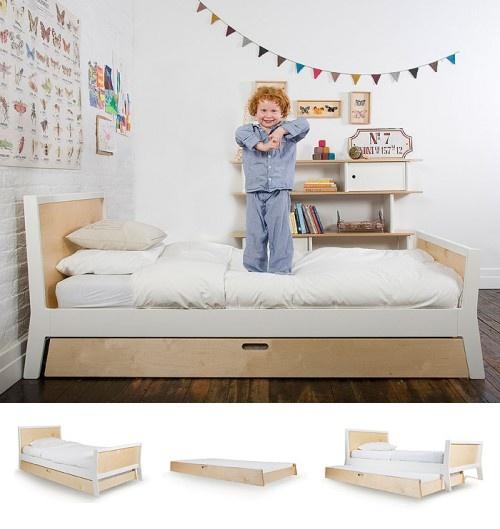 Kinderbed met extra uitschuifbaar matras voor logés | GIMMII Magazine