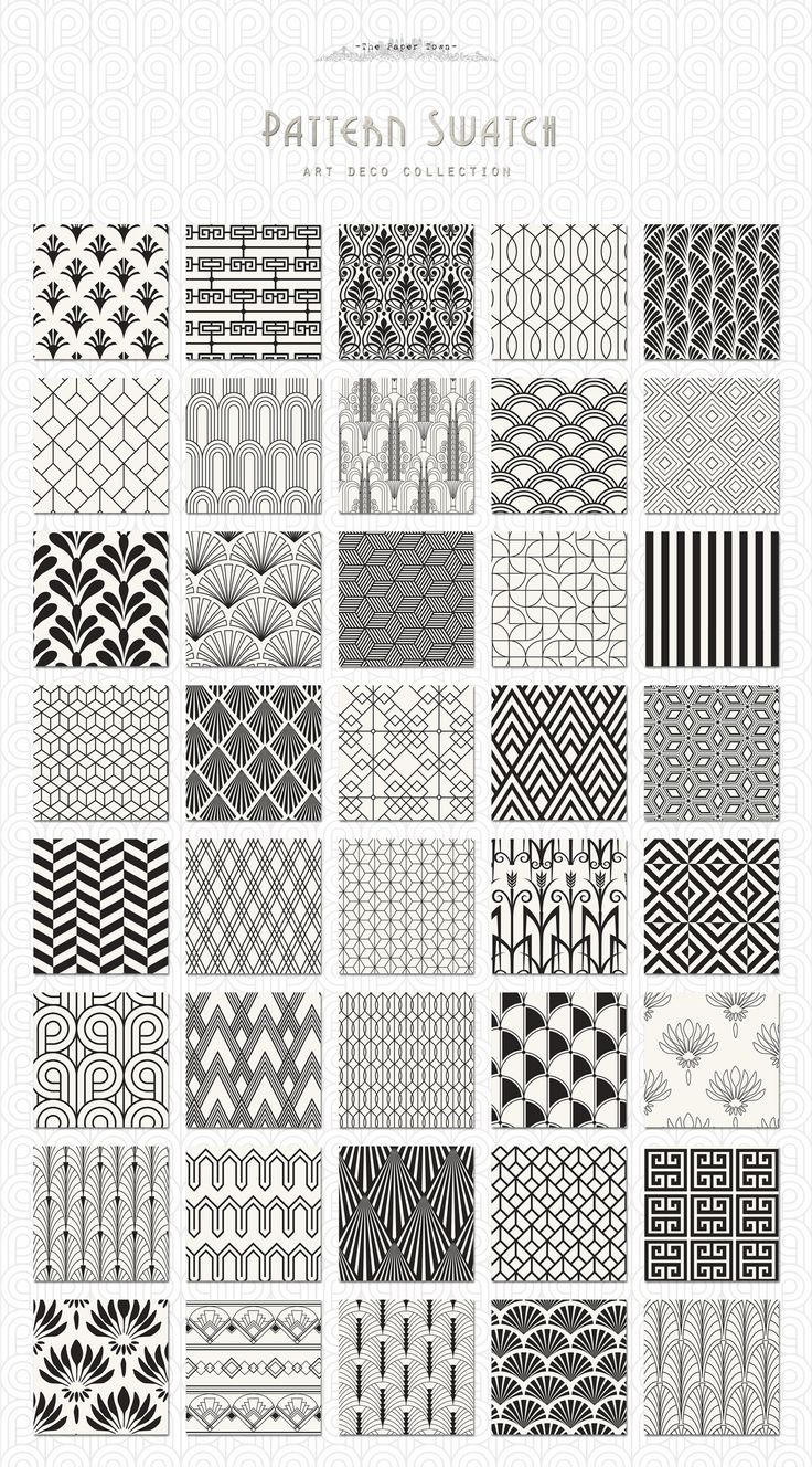 Art Deco Seamless Patterns Bundle