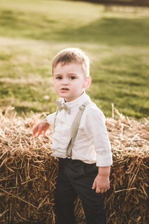 page boy bow tie rustic wedding