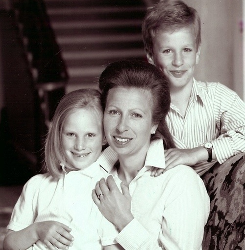 Miss Honoria Glossop:  Princess Anne with Peter and Zara Phillips