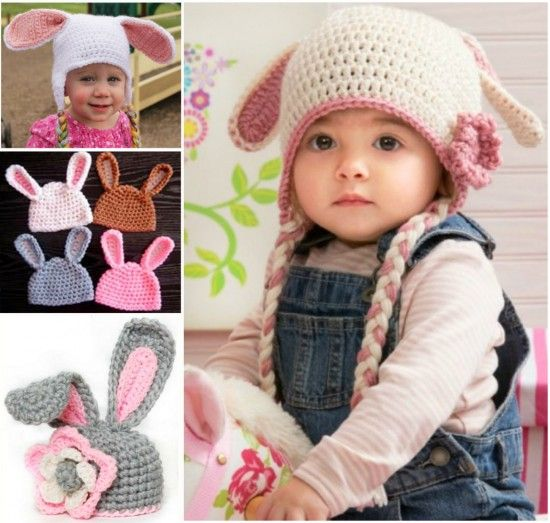 """<input class=""""jpibfi"""" type=""""hidden"""" >These Floppy Easter Bunny Ear hats are super cute . They are great for Easter celebration . I can't wait to make this one with crochet flower decoration . How about you ? All patterns are free . Happy crocheting ~~ Pickadilly Charm -- Easter Bunny Floppy Hat Free Pattern Crochet Easter Bunny Hat Free…"""