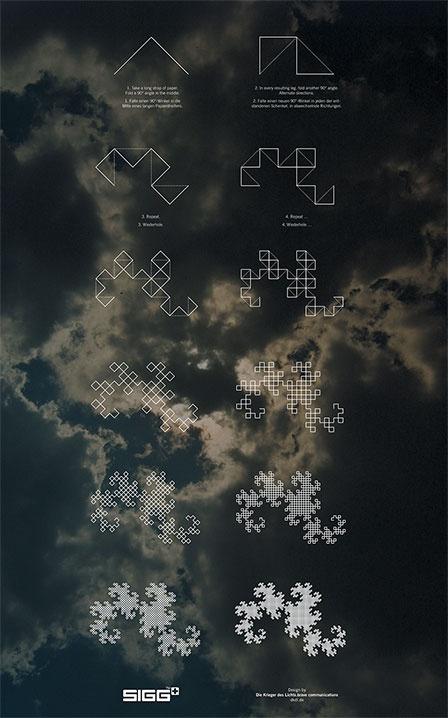 tint.de ¬ Dragon Curve pattern for SIGG Bottles, by Tilman Zitzmann