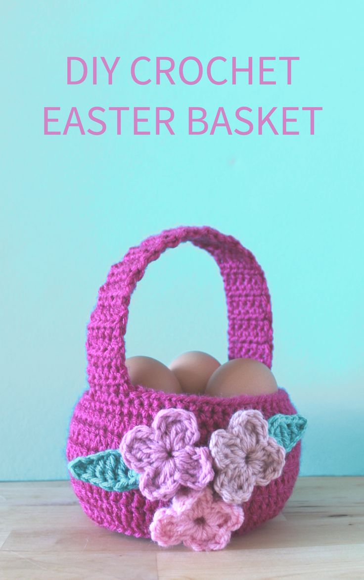 22 best holiday crochet images on pinterest crochet hearts easy crochet easter basket pattern a great alternative to plastic bins and that easter grass bankloansurffo Images