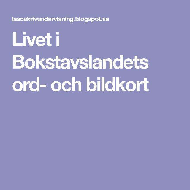 Livet i Bokstavslandets ord- och bildkort