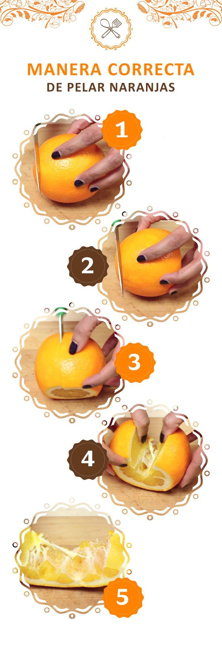No pelees con las naranjas, mejor córtalas así para que tus hijos las coman sin problema.