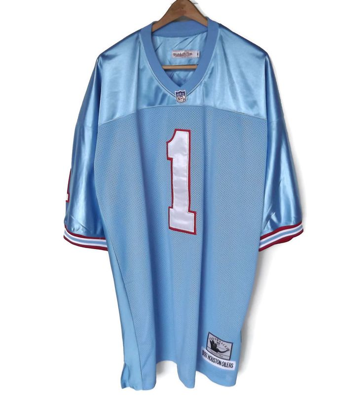 Warren Moon NFL Houston Oilers Mitchell and Ness Throwback Jersey Sz 60 New WOTS #MitchellNess #HoustonOilers