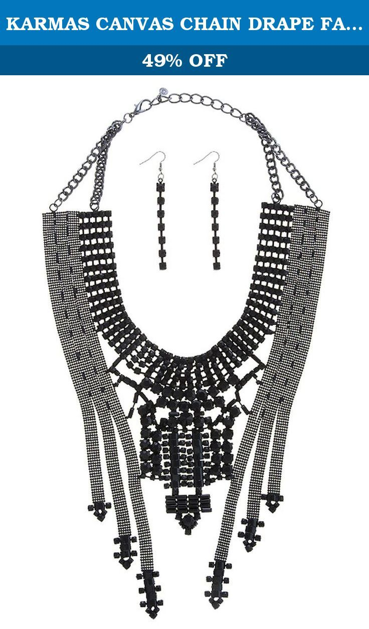 KARMAS CANVAS CHAIN DRAPE FAUX GEM BIB NECKLACE SET (Black). FASHION DESTINATION PRESENTS KARMAS CANVAS CHAIN DRAPE FAUX GEM BIB NECKLACE SET. Buy brand-name Fashion Jewelry for everyday discount prices with Fashion Destination! Everyday LOW shipping *. Read product reviews on Fashion Necklaces, Fashion Bracelets, Fashion Earrings & more. Shop the Fashion Destination store for a wide selection of rings, bracelets, necklaces, earrings and diamond jewelry. Whether you are searching for…