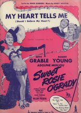 Vintage Sheet Music: My Heart Tells Me. Sweet Rosie O'Grady. Gordon & Warren.
