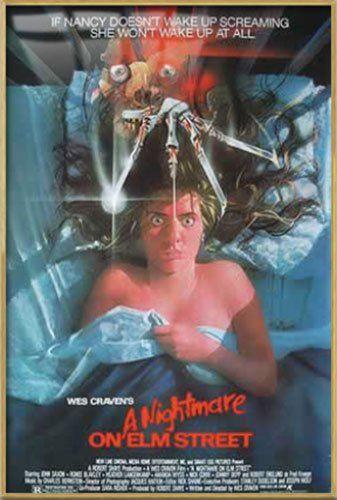 A Nightmare On Elm Street - Framed Movie Poster / Print (Size: 27 x 40) @ niftywarehouse.com #NiftyWarehouse #NightmareOnElmStreet #Halloween #Freddy #FreddyKrueger #Horror #HorrorMovies