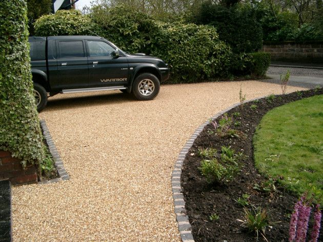 golden gravel with new granite sett edging Dip GD initial consult free