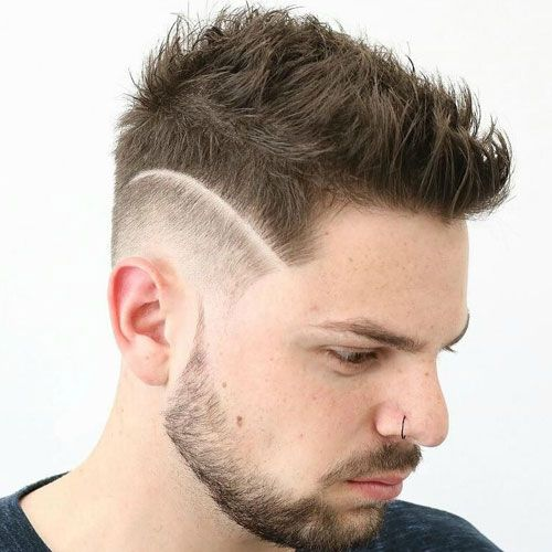 Hi Lo Fade with Messy Spikes