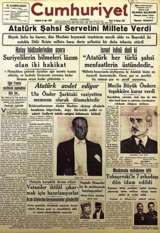 Cumhuriyet 13.06.1937