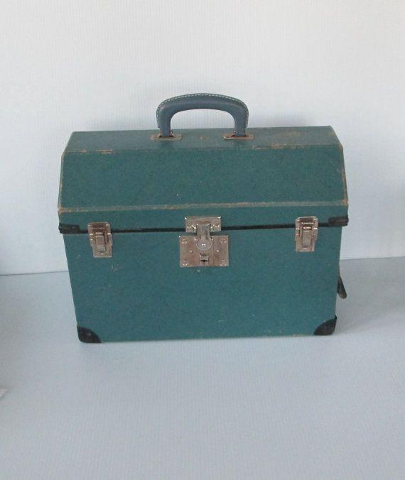 Vintage Blue Pet Carrier Dog Cat Transport 1940s by retrogal415