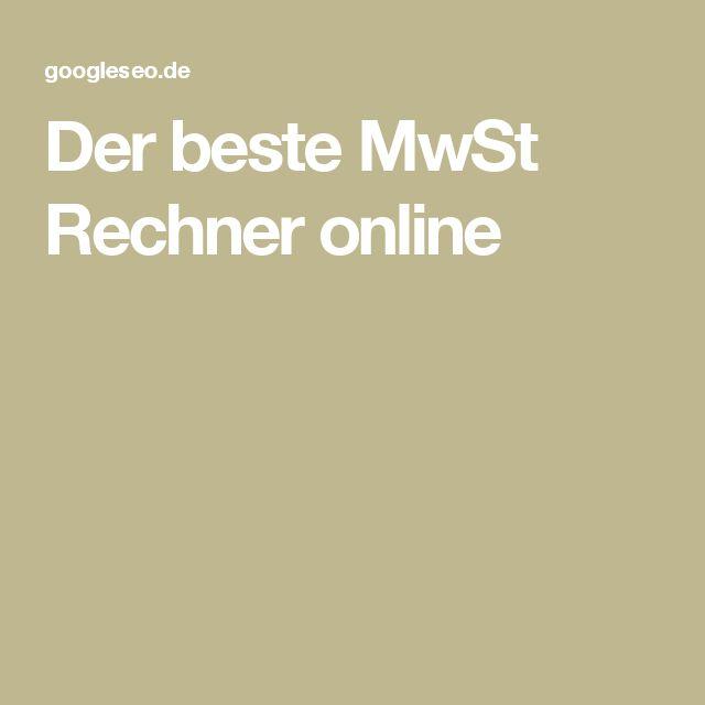 Der beste MwSt Rechner online